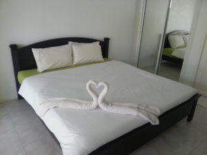 The beds are comfortable at the Thipburee Resort