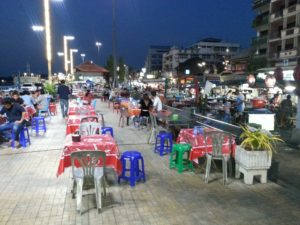Food market at Surat Thani Night Boat Pier