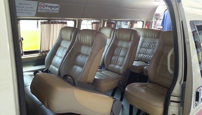 Inside a Thai minivan