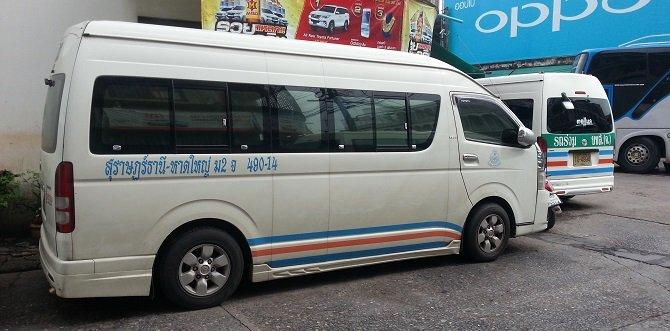Minivan from Surat Thani to Phuket