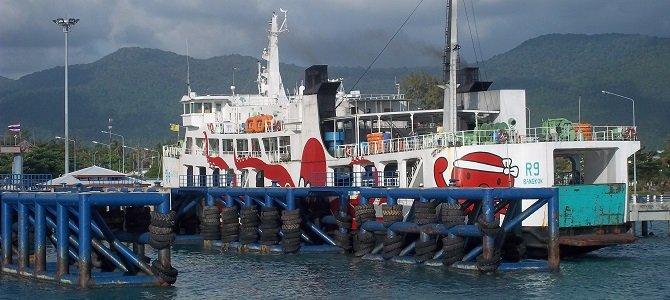 Raja Ferry docked at Thong Sala Pier in Koh Phangan