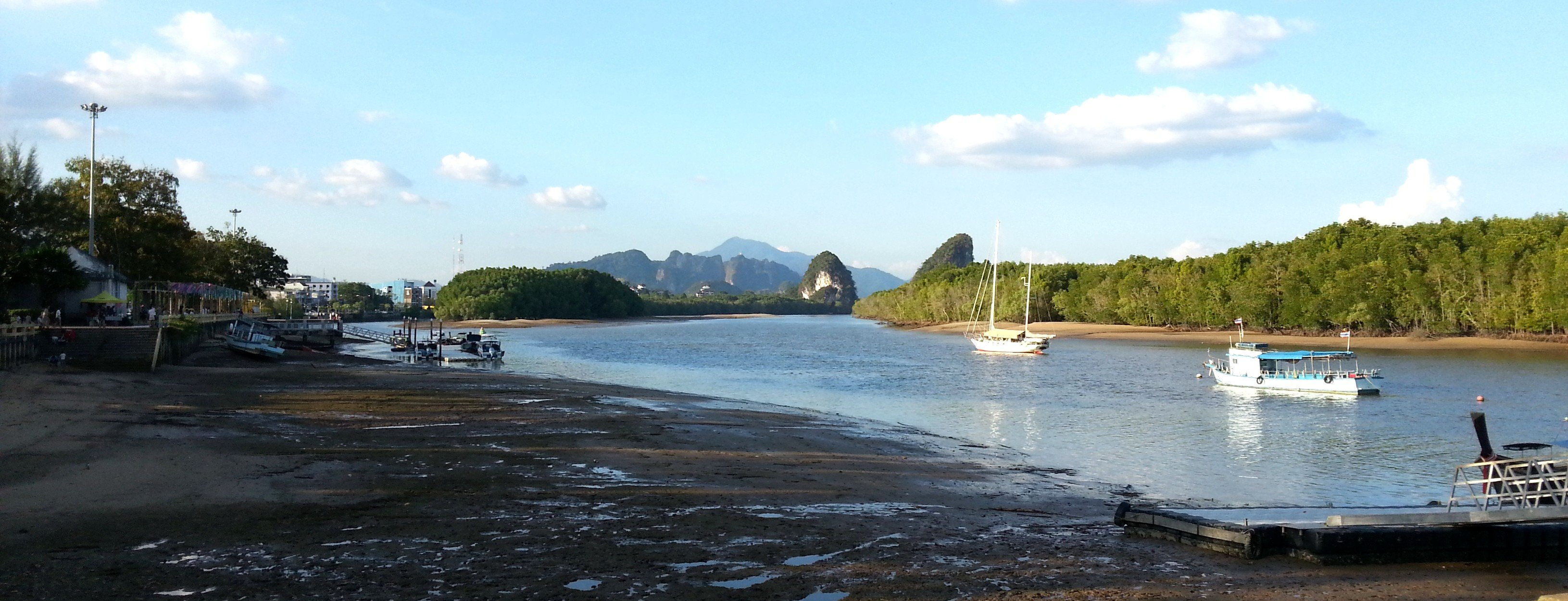 River front in Krabi Town