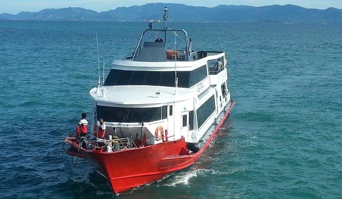Seatran Disovery Ferry arriving in Koh Phangan