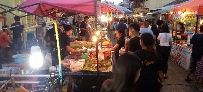 Great local food is sold at Surat Thani night market