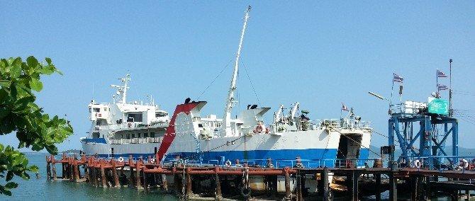 Car ferry at Donsak Raja Ferry Pier
