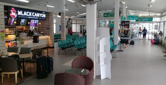 Inside the terminal building at Koh Samui Raja Ferry Port