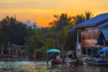 Tapi River in Surat Thani