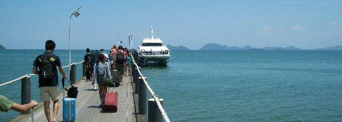 Lomprayah Ferry Pier at Thung Makham Noi Beach