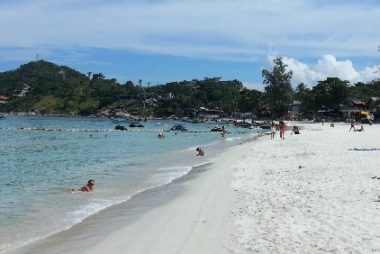 Haad Rin beach where the Full Moon Party takes place