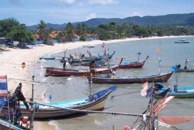 Longtail Boats in Koh Samui