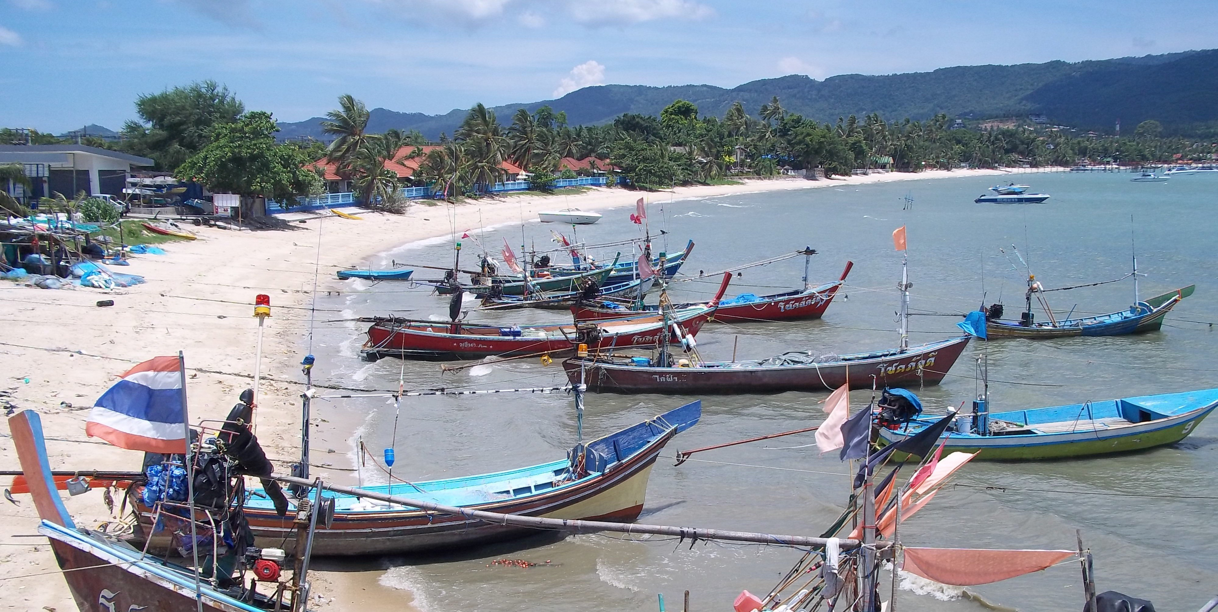 Longtail Boats in Koh Samui