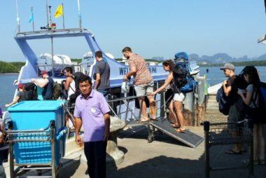 Ferry from Klong Jilad Pier to Koh Phi Phi
