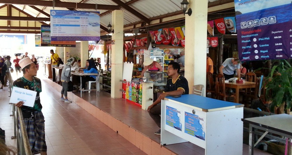 Ticket counters at Saladan Pier