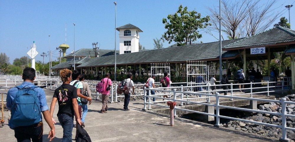 Arrival at Tammalang Pier