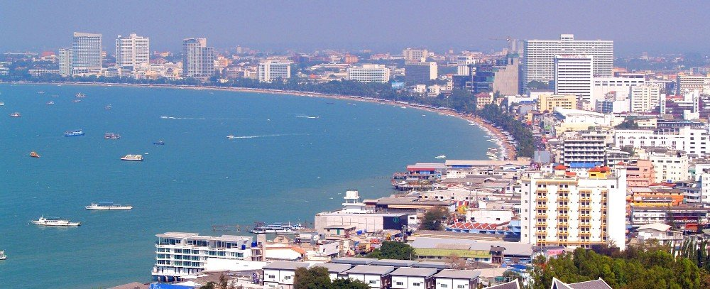Beach front in Pattaya City