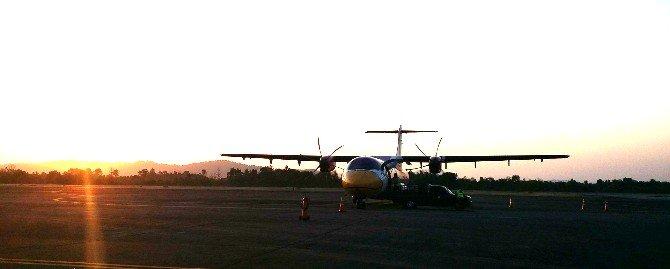Nok Air plane at Ranong Airport
